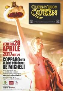 QUEEN VISION TRIBUTE BAND 28 APRILE 2017 @ Copparo - Teatro comunale De Micheli | Copparo | Emilia-Romagna | Italia