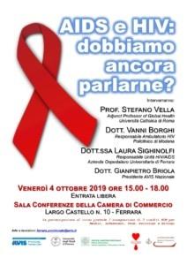 AIDS e HIV: dobbiamo ancora parlarne? @ Sala Conferenze Camera di Commercio | Ferrara | Emilia-Romagna | Italia