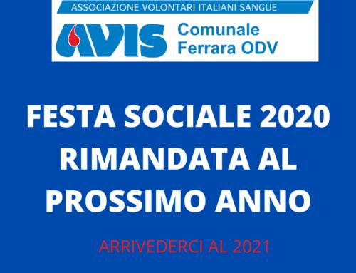 FESTA SOCIALE AVIS FERRARA 2020