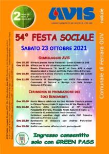 Avis Comunale Ferrara 54° Festa Sociale