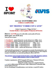 """XIV Trofeo """"Corri con l'AVIS"""" di Corsa Campestre a Porotto a.s. 2021/2022 @ Porotto   Porotto   Emilia-Romagna   Italia"""
